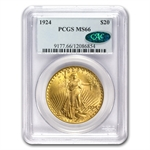 $20 Saint-Gaudens Gold Double Eagle - MS-66 PCGS/NGC CAC